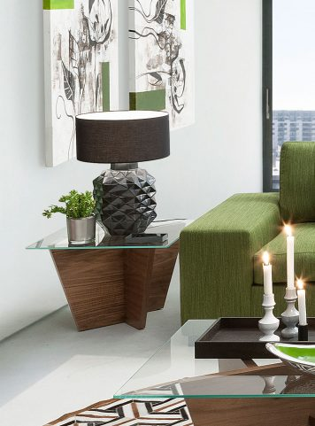 olivia end table by Tema Home