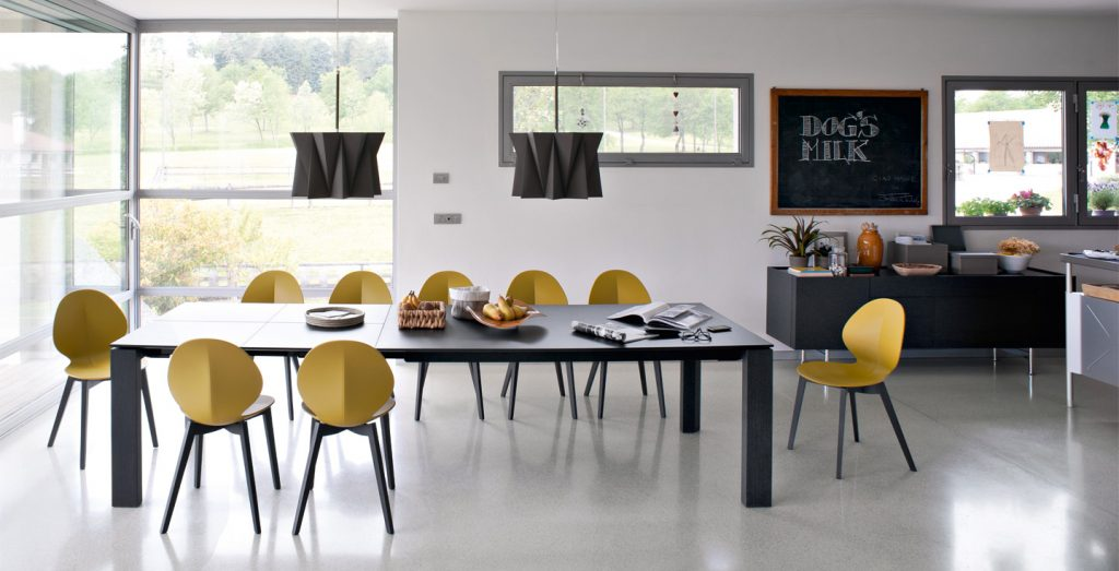 omnia verre table calligaris cs 4058 mariette clermont. Black Bedroom Furniture Sets. Home Design Ideas