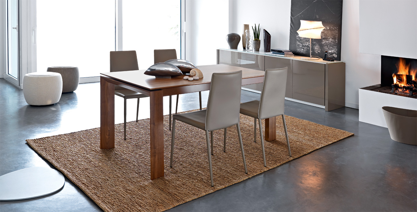 Omnia bois table calligaris cs 4058 mariette clermont for Calligaris soldes