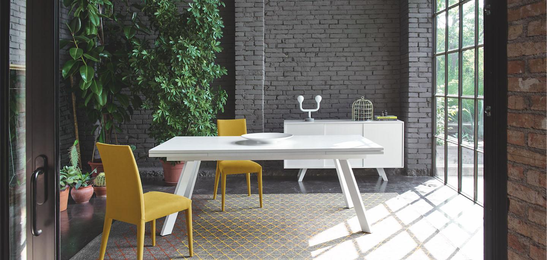 ponente table calligaris cs 4098 mariette clermont. Black Bedroom Furniture Sets. Home Design Ideas
