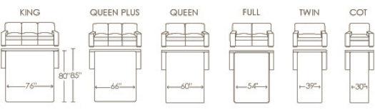Formats pour divan-lit