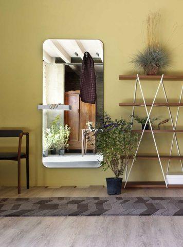 Benvenuto mirror coat rack by Miniforms