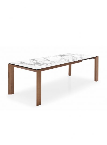 Table Omnia ceramique fini marbre par Calligaris
