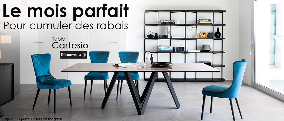 Charmant Table Cartesio Par Calligaris ...