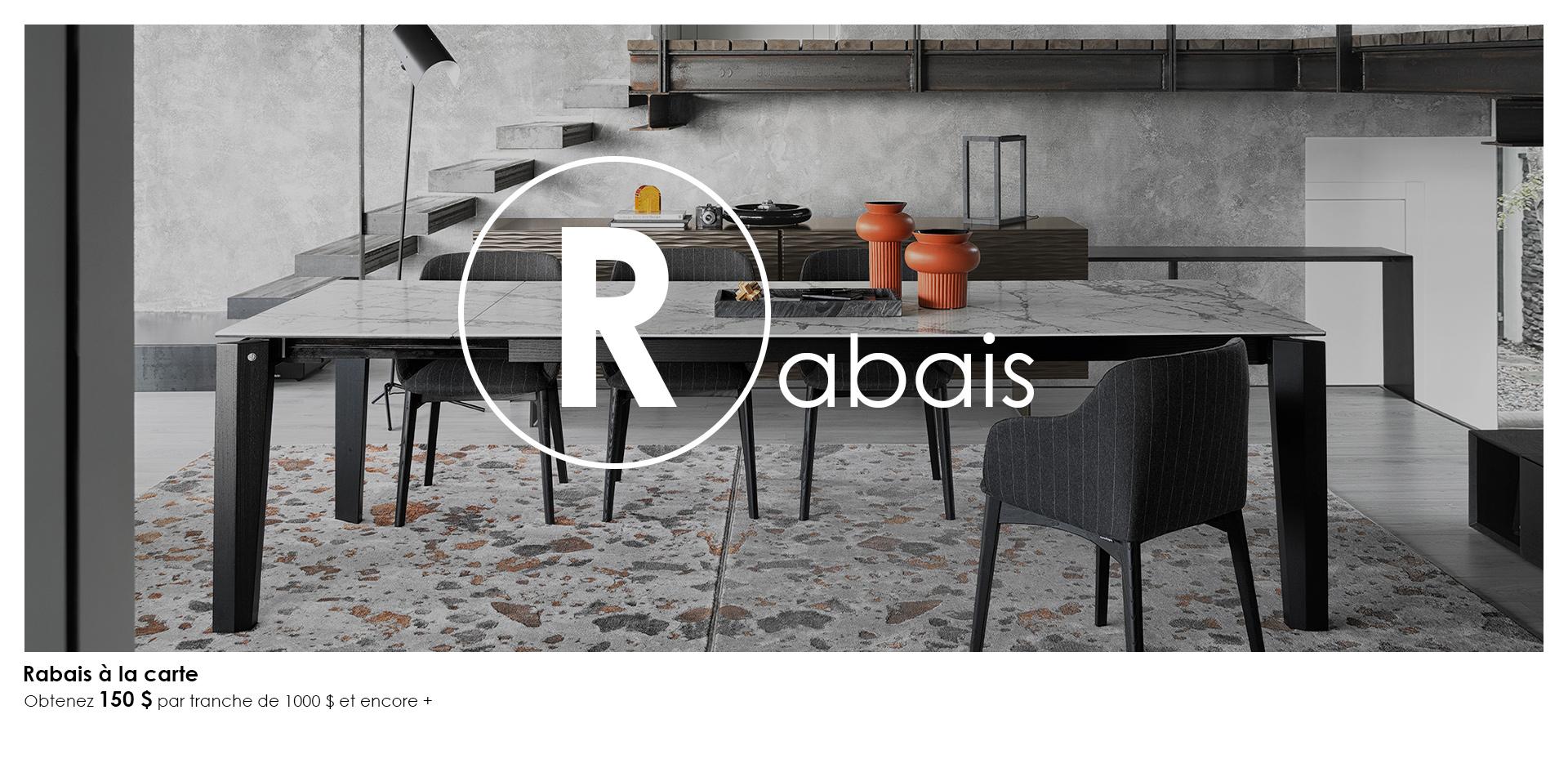 Table Alpha - Rabais à la carte