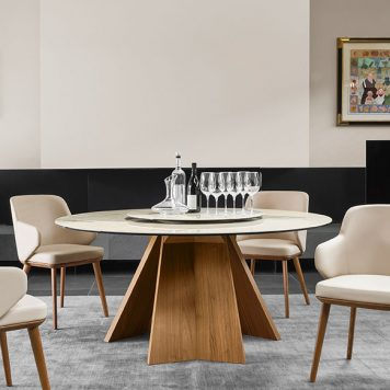 Table ronde Icaro par Calligaris