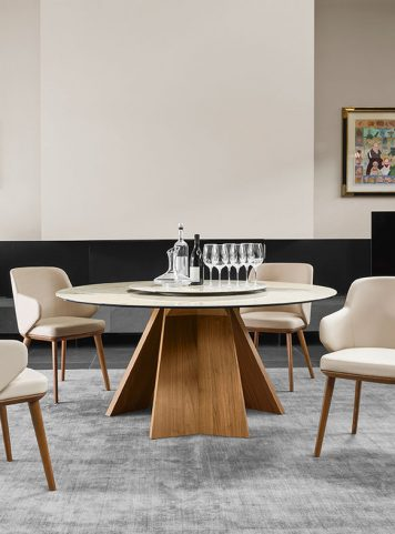 Icaro round table by Calligaris