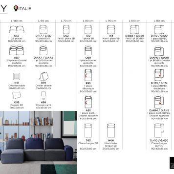 Lazy technical sheet by Calia Italia
