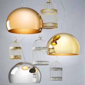 Lampe Fl/y Metallic PMMA Par Kartell Mariette Clermont